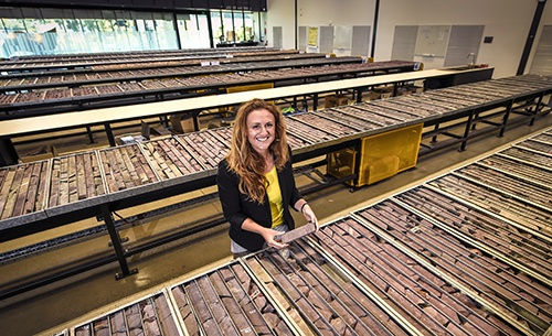 Holly Bridgwater at the SA Drill Core Reference Library
